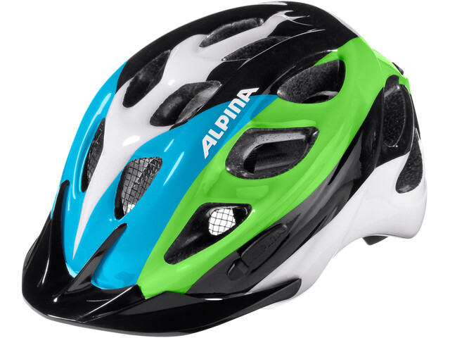 Alpina Rocky Helmet Kids black-blue-green